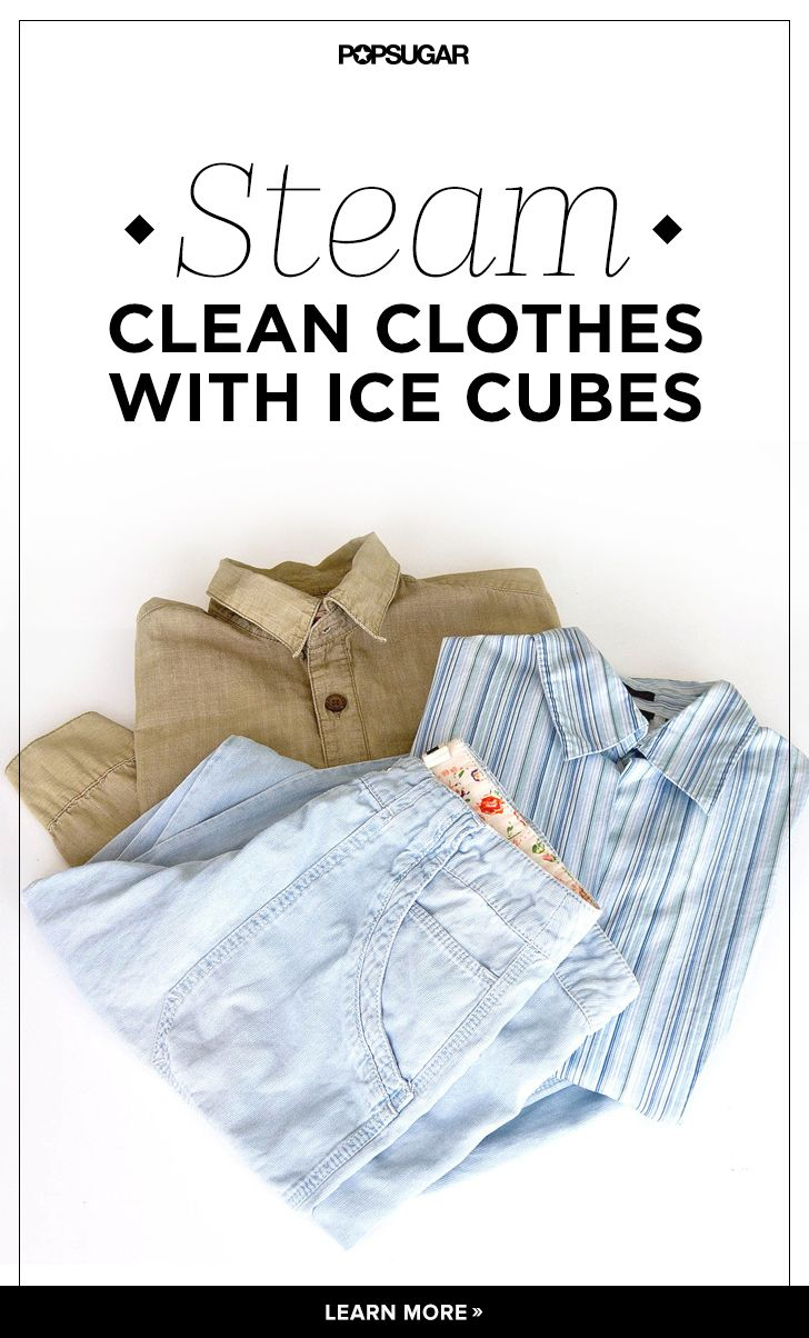 No Iron? No Problem! Use Ice Cubes to Steam Wrinkles