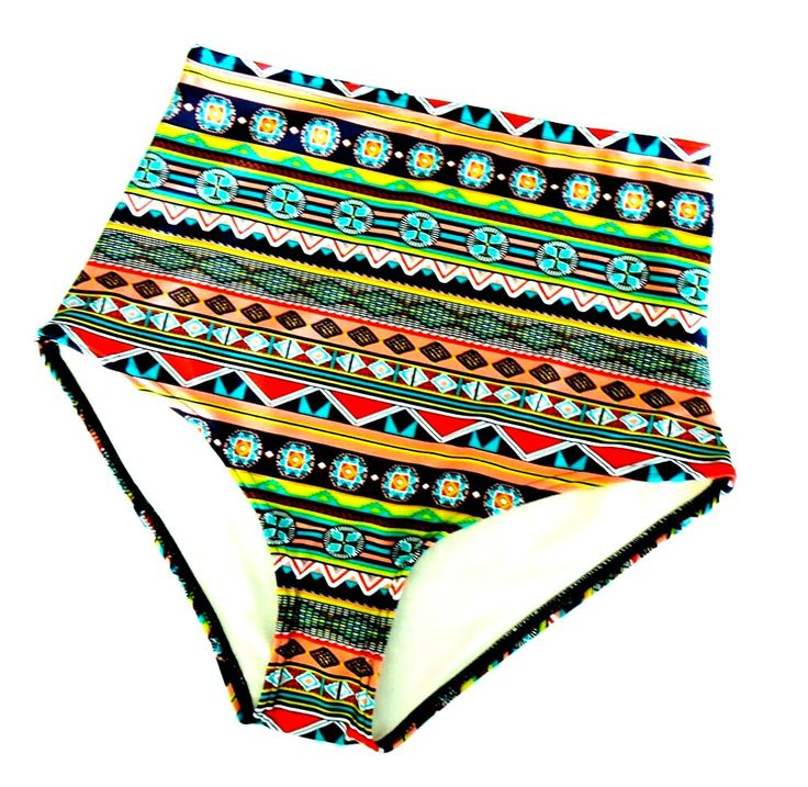 High Waist Aztec Bikini Bottom