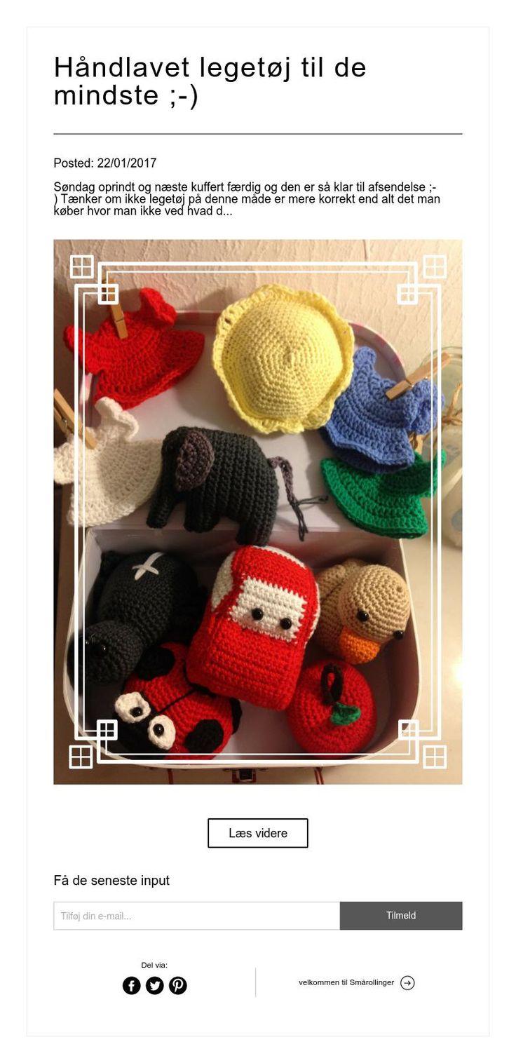 Håndlavet legetøj til de mindste ;-)