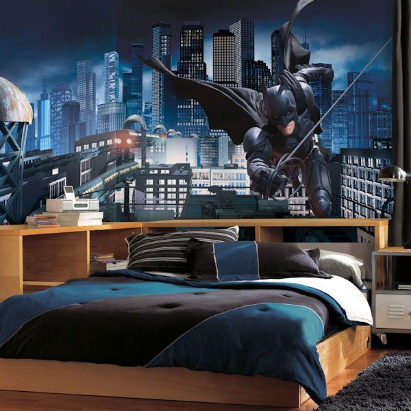 boys room batman decorating | Batman Dark Knight XL Wall Mural - Wall Sticker Outlet