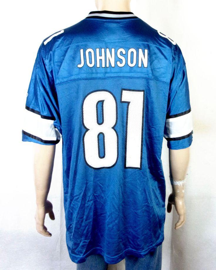 euc Reebok On Field Detroit Lions #81 Calvin Johnson Jersey NFL sz XL #Reebok #DetroitLions