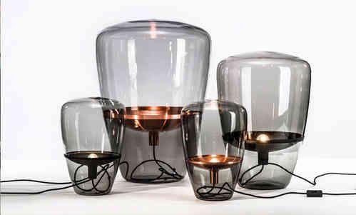 Tafellamp Brokis, Balloons met metalen reflector en glazen kap