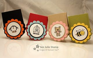 See Julie Stamp - Julie Wadlinger, Stampin' Up! Demonstrator : Every Little Bit - Bookmarks