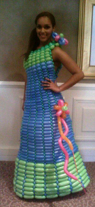 My first balloon dress-no training received!