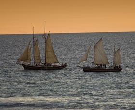 Pearl luggers off Broome, WA