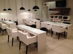 Modern esthetics nail tables google search client spa and salon inspirati - Inspiration salon moderne ...