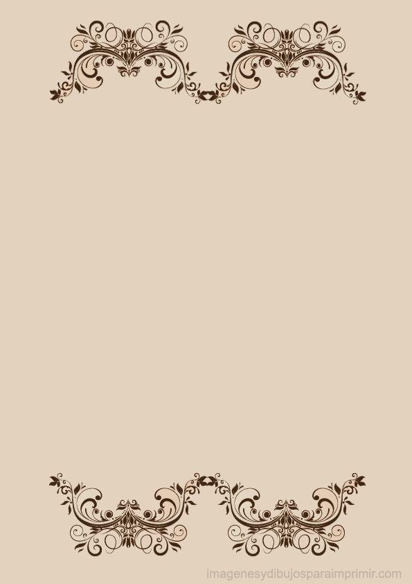 Hojas decoradas para imprimir con flores elegantes for Adornos para paginas