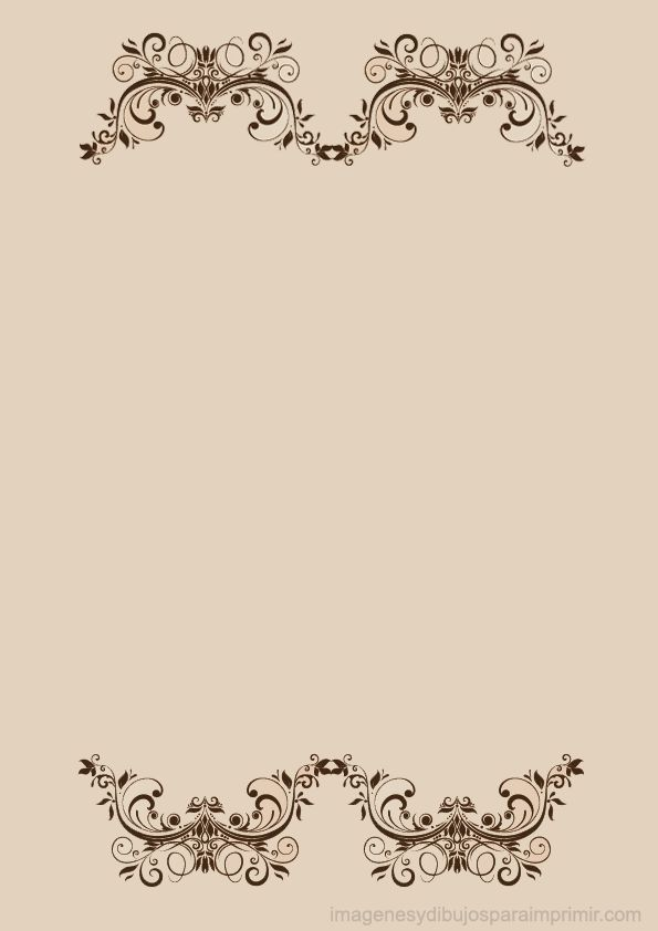 Hojas decoradas para imprimir con flores elegantes for Paginas decoradas