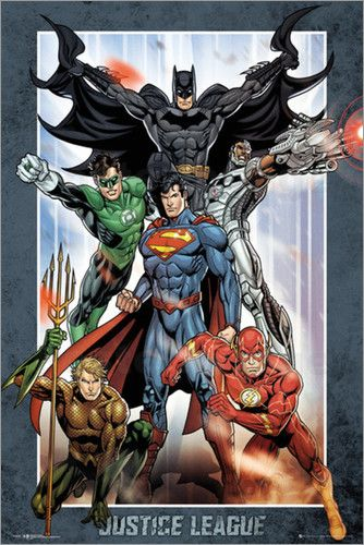 DC Comics - Justice League Group Poster | Posterlounge