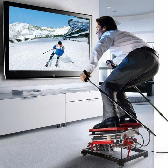 Very exiting new technological advances in single player interfaces! #technology #skiing #gaming
