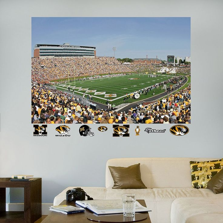 Fathead Missouri Tigers Faurot Field Wall Decals, Multicolor