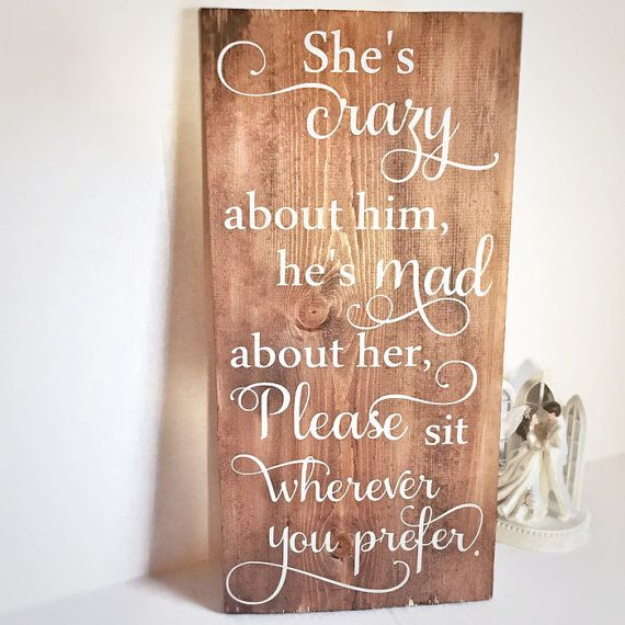 Wedding seating sign - rustic wedding decor - wedding ceremony decoration…