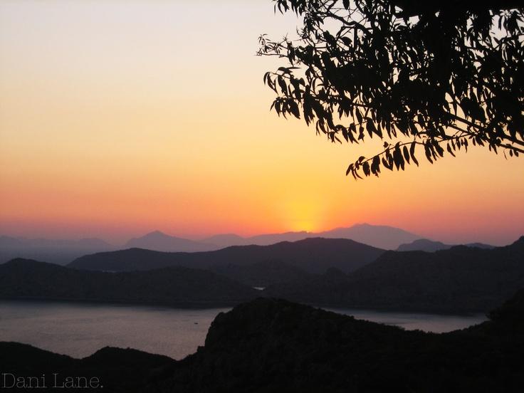 Sunset in Turkey.