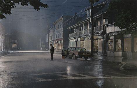 Gregory Crewdson fait de la photographie avec les moyens du cinéma.