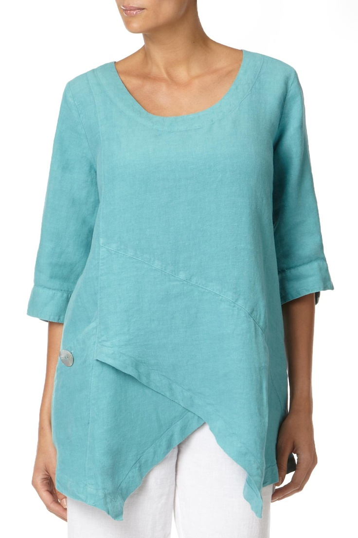 tunic | Tops | Linen Asymmetric Tunic at Sahara