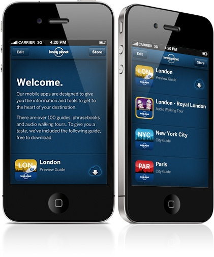 For $7.99 each, the Lonely Planet apps/audio phrasebooks are a good buy from Apple when traveling internationally.