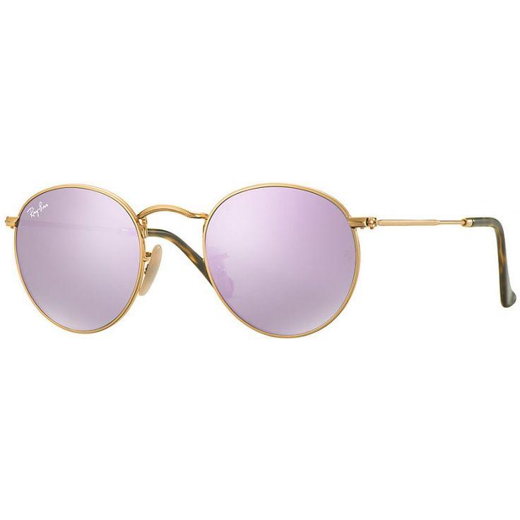 Acquista i fantastici occhiali RAY-BAN RB3447N 001/8O 47 ROUND FLAT LENSES al…