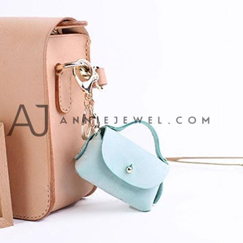 261c82ec1d4a Handmade Leather Mini Bag Cute Coin Holder Key Wallet Purse Unique Gift For  Girls Women