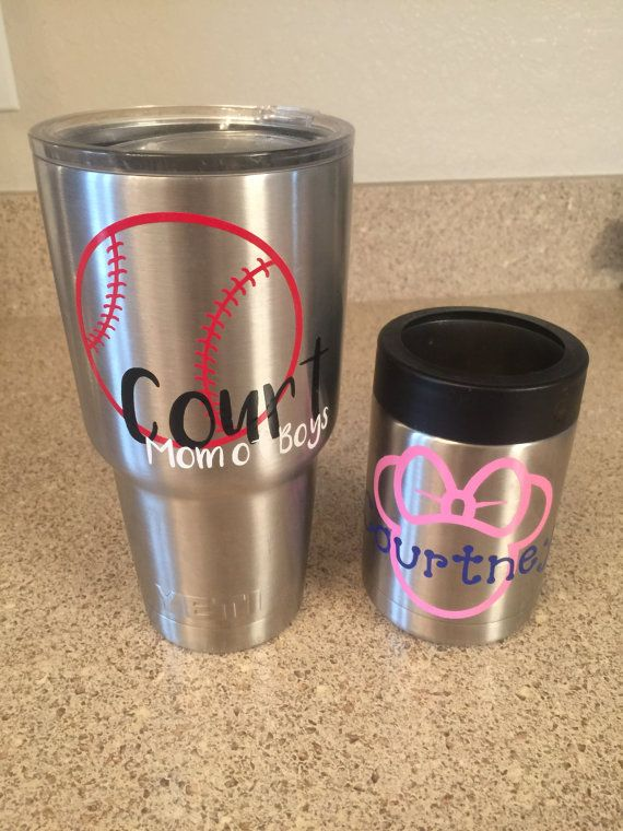 Personalized yeti decals yeti decals by pettyscustomcreation