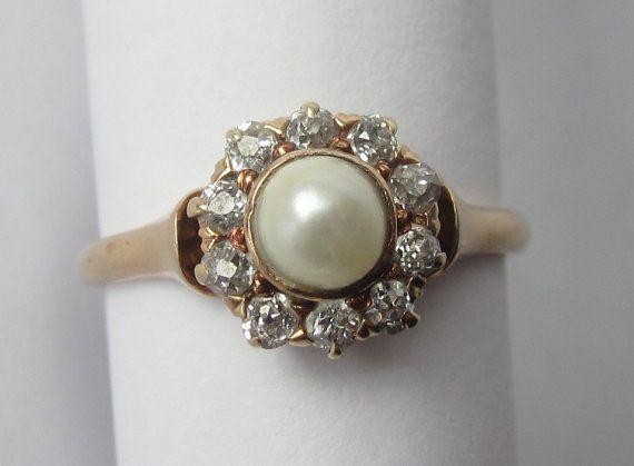 Vintage Pearl Engagement Ring... definitely on my list