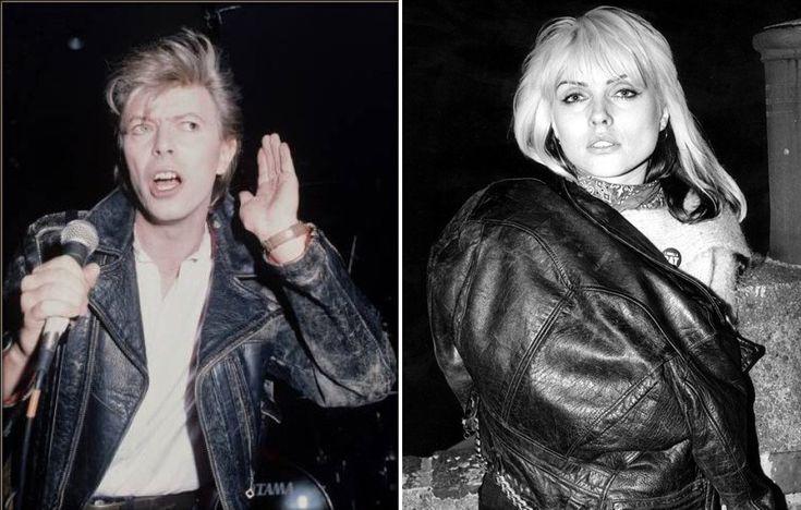 (L) David Bowie. (R) Debbie Harry. (dates unknown)