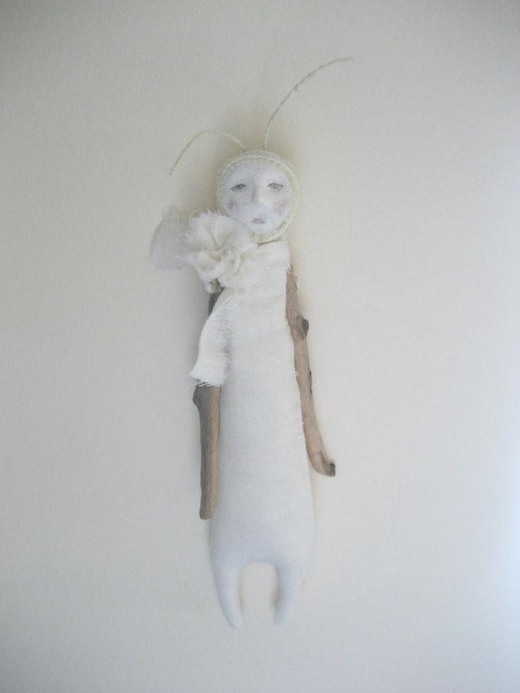 Soft sculpture art doll ,Cloth doll,Wall art ,Wedding gift,Minimalistique ooak art doll, Ready to ship. $50.00, via Etsy.