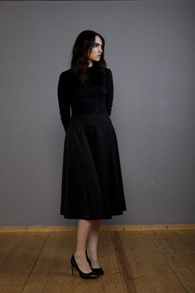 Look 2: Lennon Courtney, Full circle dress, AW