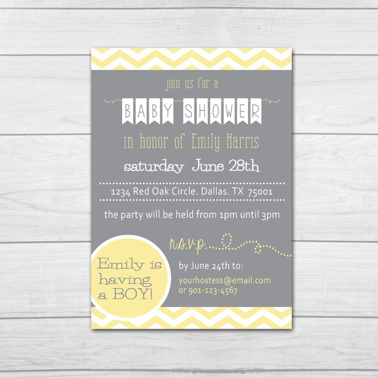 8 best baby shower images on pinterest shower ideas dcor and printable baby shower invitation gender by ellajanedesigns stopboris Image collections