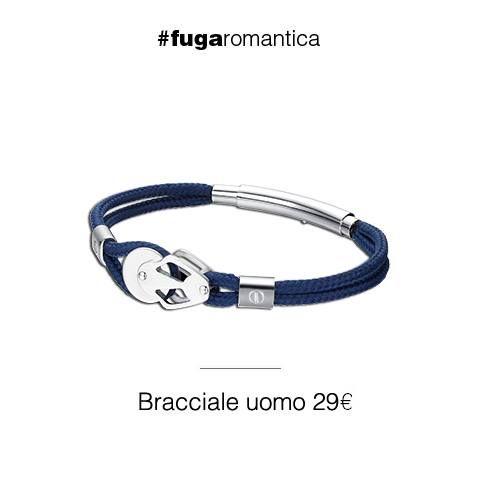 """Bracciale in acciaio con cordino blu """"new collection"""" Luca Barra Gioielli. #newcollection #gioielli #forman #lucabarra #tendenzemodauomo"""