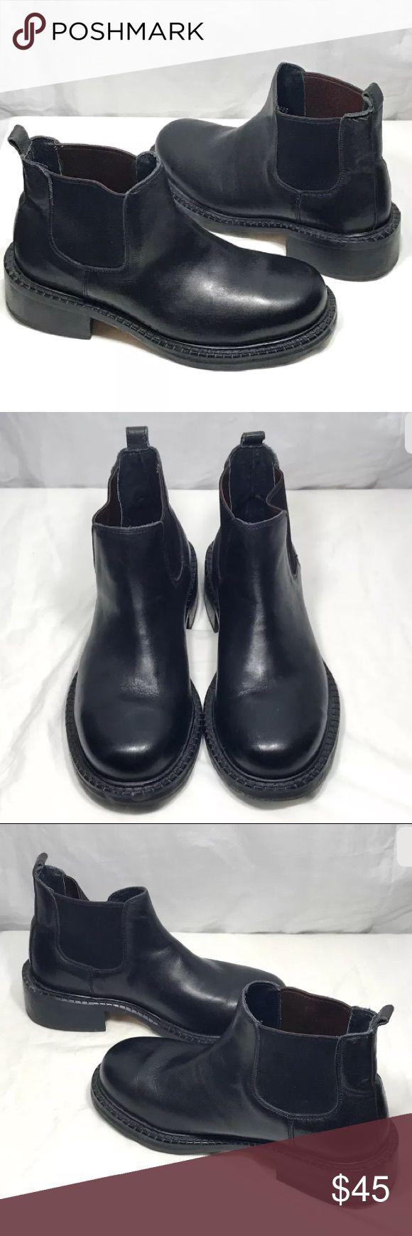Capa De Ozono Black Leather Chelsea Ankle Boots 6 Capa De Ozono Black Leather Chelsea Ankle Dress Boots Shoes 6 Cape De Ozono Shoes Boots
