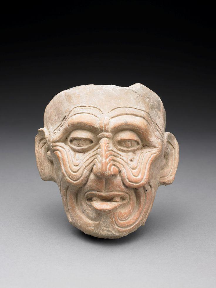 Head of Old God (Huehueteotl) - Veracruz culture, Mexico, 600 - 900 Pre-Columbian