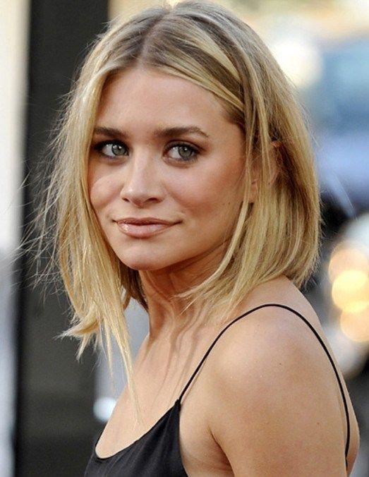 fine, thin hair! Ashley Olsen medium hairstyle for fine hair