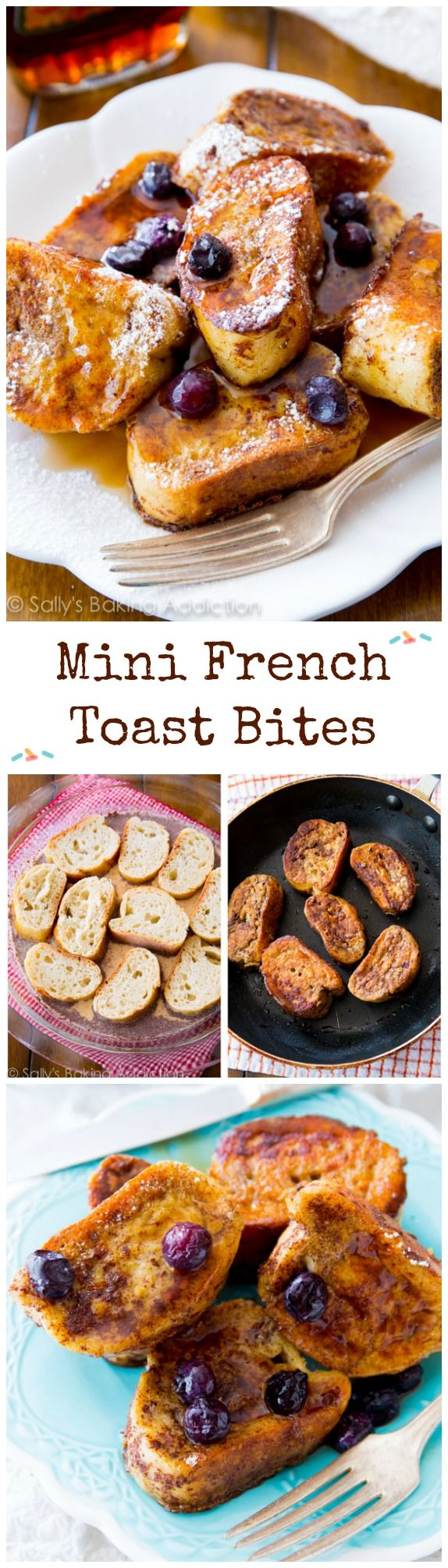 My favorite (super simple) french toast in mini size - these are fun to make AND eat!