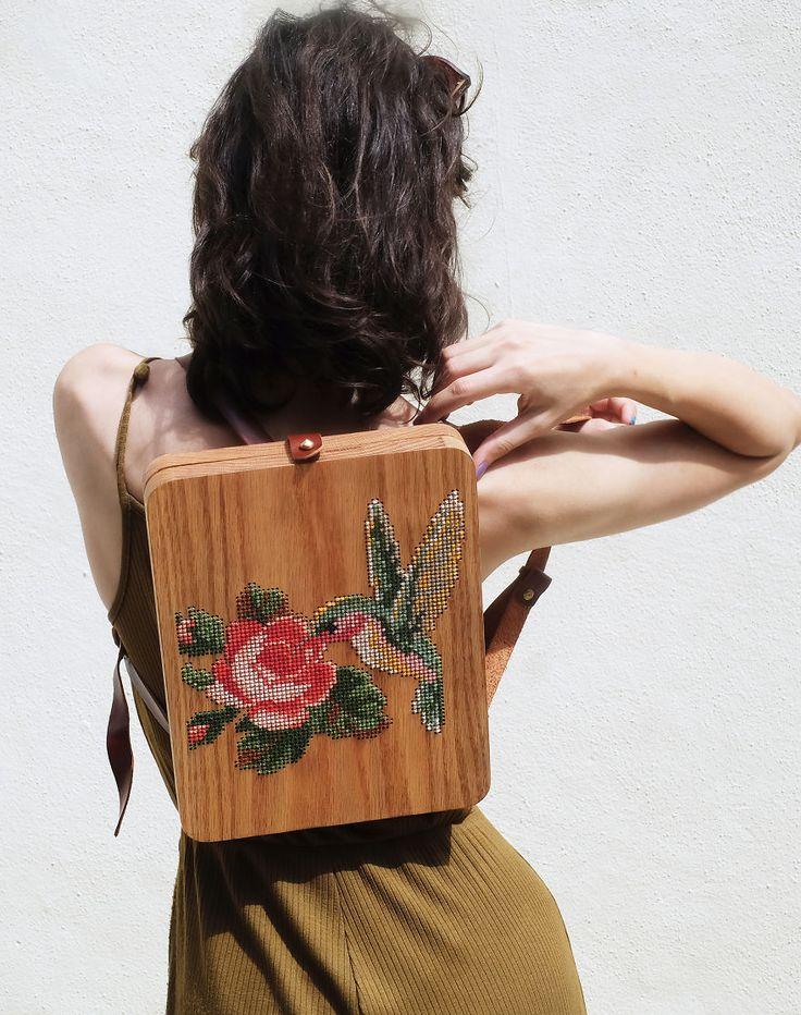 Wearable Wooden Bags by Grav Grav