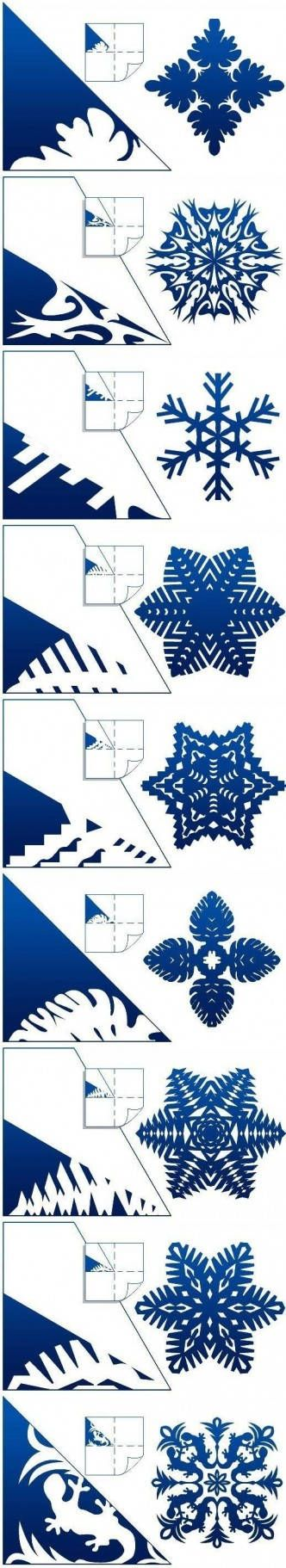 DIY Schemes of Paper Snowflakes DIY Projects