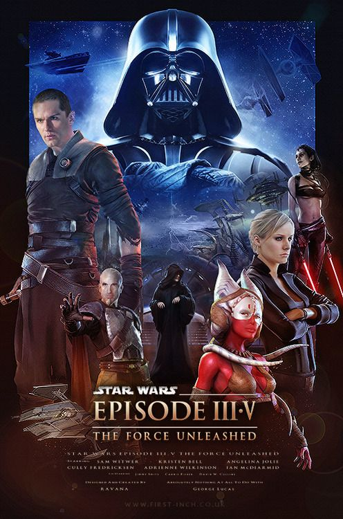 Star Wars The Force Unleashed Poster   This would make me sooo happy, but only if they got the cast back.