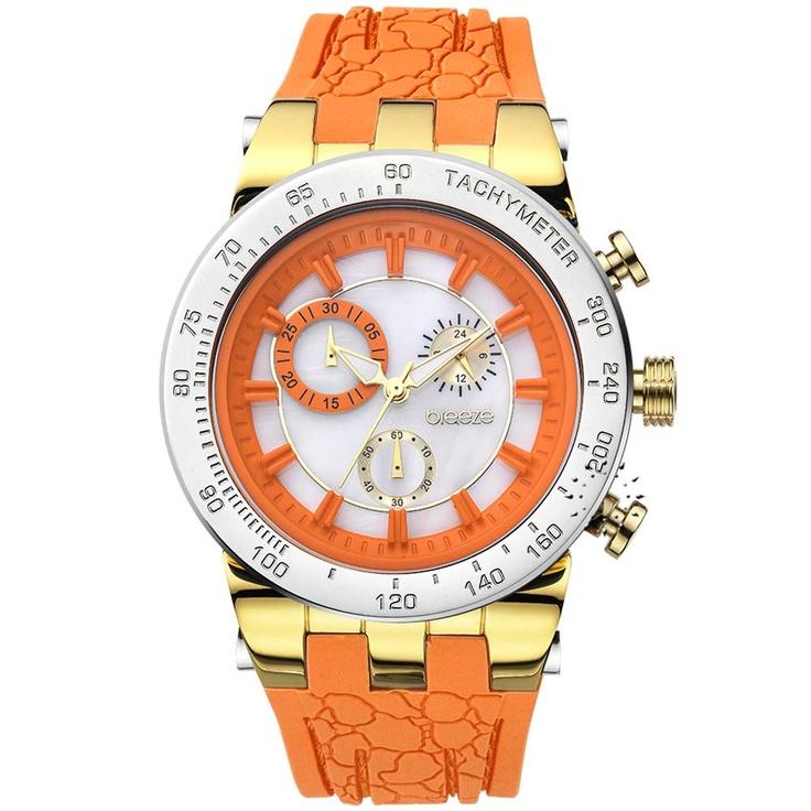 BREEZE Desire Chrono Orange Rubber Strap Μοντέλο: 110011.5 Τιμή: 190€ http://www.oroloi.gr/product_info.php?products_id=30560