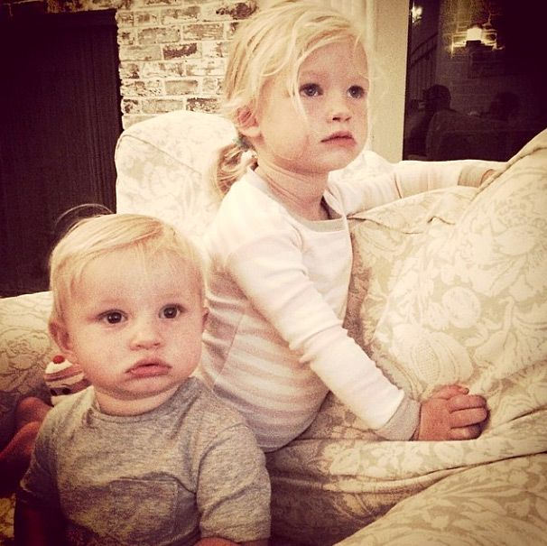 Jessica Simpson children Maxwell and Ace