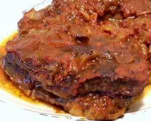 Rôti de palette aux bacon et aux tomates