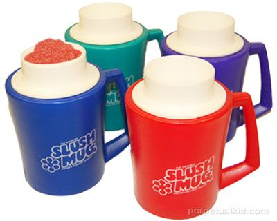 THE ORIGINAL SLUSH MUG  Life was great when you only had to worry about waking up in time for Saturday morning cartoons, riding your Big Wheel and making sure your Slush Mug was freezing for a hot afternoon. What? You don't remember The Original Slush Mug Frozen Dessert Maker? You were either living under a rock during the 70's and 80's… or not born yet! $9.99