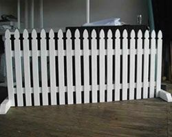 Free Standing Picket Fencing