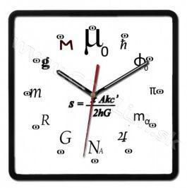 Nástenné hodiny Fyzikálne