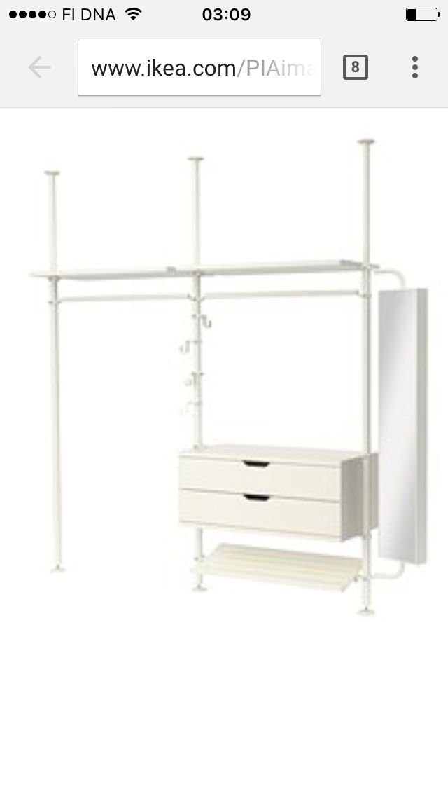 dressing stolmen amazing ikea stolmen posts as a wall mount for tv rotatable with dressing. Black Bedroom Furniture Sets. Home Design Ideas