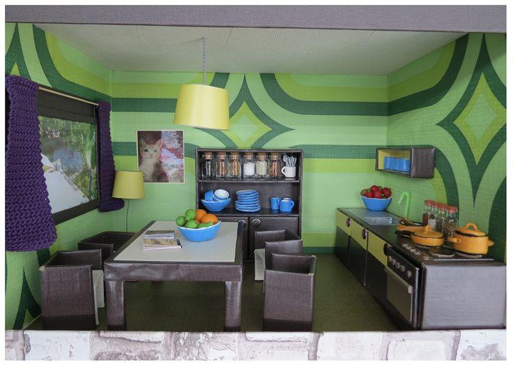 keuken kitchen cardboard karton miniatuur miniature