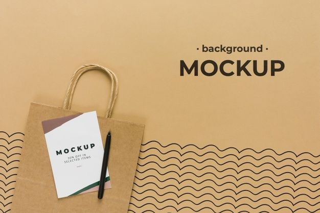 Download Download Top View Paper Bag Mock Up For Free Mocking Free Psd Ocean Day