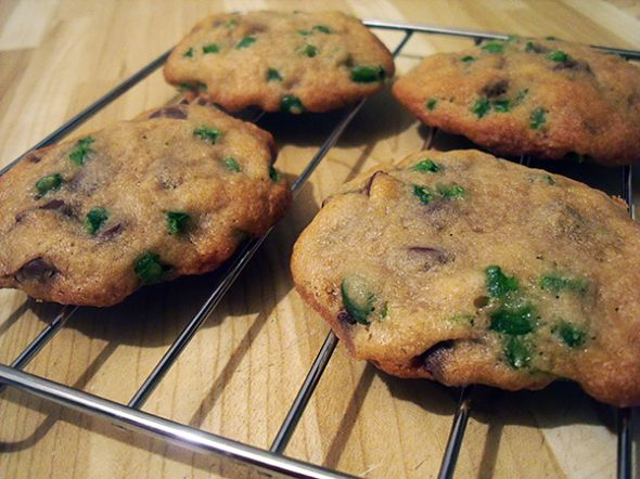 Sweet & Spicy Jalapeno Chocolate Chip Cookies