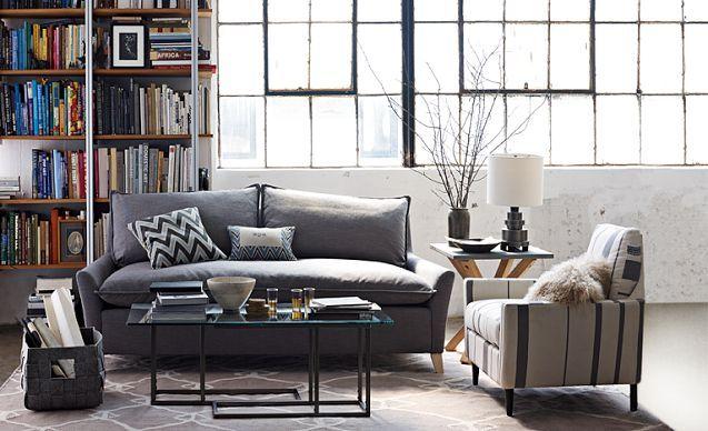 living room looks west elm home goods for the dream home pinter. Black Bedroom Furniture Sets. Home Design Ideas