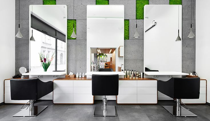 Moss and Concrete Define This Salon in Krakow - Azure Magazine