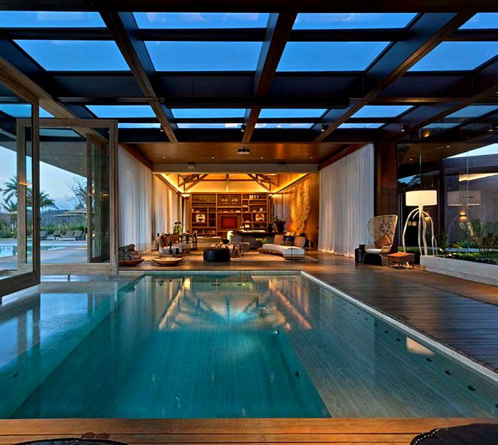 177 best Piscines du0027intérieur images on Pinterest Indoor pools - location chalet avec piscine interieure