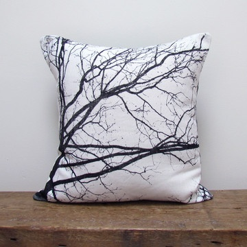 """Autumn Morning"" linen pillow by Kaye Rachelle"